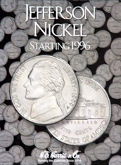 Jefferson Nickels Folder #3  1996-2009 with holes for new nickels
