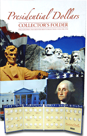 Presidential Dollar Four Panel Folder P&D Vol. I 2007-2011