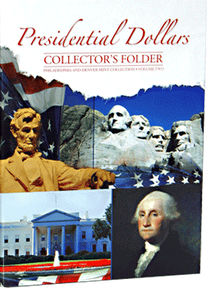 Presidential Dollar Four Panel Folder P&D Vol. II 2012-16
