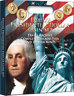 Deluxe Presidential Dollar Coin - Traveling Archive P&D
