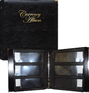 Whitman Premium Currency Album - Large Notes - Clear View