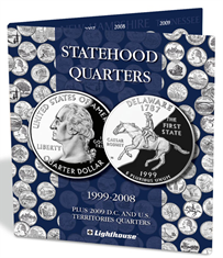 Lighthouse Statehood & DC/Territories Quarter Folder