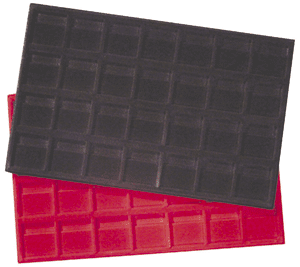 Horizontal 2x2 Display Tray (28 Slots) Red (New #668249)