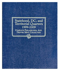Statehood Quarters Album, 1999-2009, P& D with U.S. Territories and District of Columbia