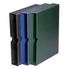 Premium Slipcase for Stockbooks in Blue