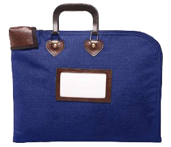Locking Fire Block Briefcase 18x14 - Navy Blue 194252, 232500934, Locking Fire Block Briefcase 18x14 - Navy Blue, MMF, 18x14