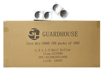 Guardhouse 1.5x1.5 Half Dollar - 100/Bundle