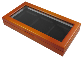 Wood Glass-top Display Slab Box - 3 Slab Universal