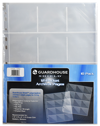 Guardhouse Shield 12 Pocket (10 pack) Polypropylene Pages