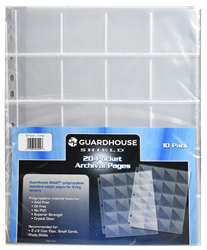 Guardhouse Shield 20 Pocket (10 pack) Polypropylene Pages
