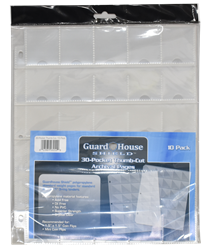 Guardhouse Shield Thumb Cut 30 Pocket (10 pack) Polypropylene Pages