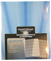 Guardhouse Shield Thumb Cut 30 Pocket (100 pack) Polypropylene Pages