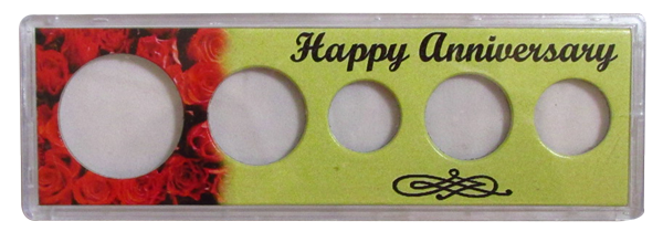Happy Anniversary 2 x 6 Snap-Tite, Cent - Half Dollar