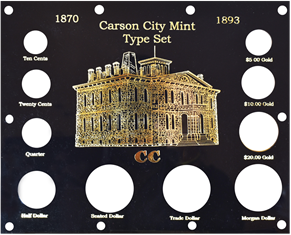 1870-1893 Carson City Mint Type Set