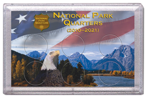 National Parks Flag and Eagle Design Frosty Case - 6 Hole