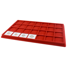 2x2 Universal Display Tray for Dealer - Red