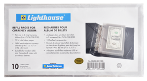 Refill Pages for Lighthouse Classic Single Pocket Currency Album