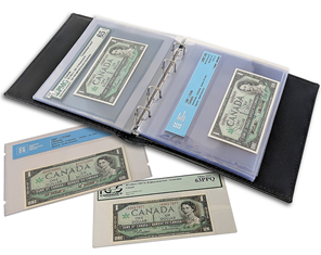 Refill Pages (10) for Currency Album For Graded Banknotes CLCAGH