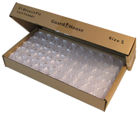 Nickel size bulk 21.2mm Direct-Fit Guardhouse holders. 250 count box.