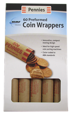 60 Penny Preformed Coin Wrappers