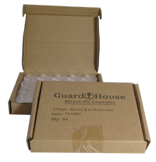 Nickel size 21.2mm Direct-Fit Guardhouse coin holders - (S dia) / 50 per box.