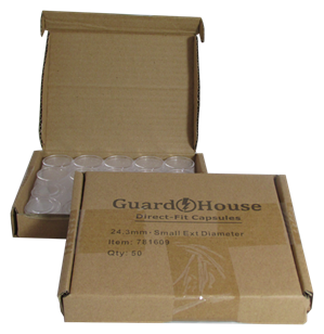 Quarter size 24.3mm Direct-Fit Guardhouse coin holders - (S dia) / 50 per box.