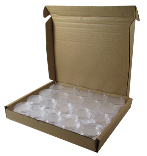 1/2 oz Gold Eagle 27mm direct fit Guardhouse coin holders - (L dia) / 50 per box.