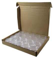 1 oz Gold Eagle 32 direct fit Guardhouse coin holders - (L dia) / 50 per box.