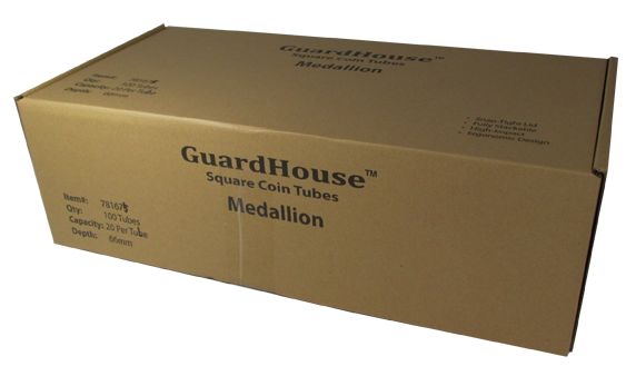 Guardhouse Medallion Coin Tube - H66-100 Pack