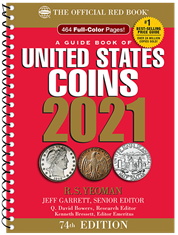 2021 Red Book Price Guide of United States coins, Spiral Bound