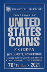 2021 Blue Book, Handbook of US Coins Hardcover