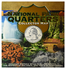 National Park Quarters Foam Map 82884, 8841, National Park Quarters Foam Map, Whitman, 13.2x19.8