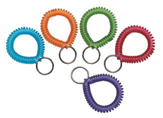 Key and Card Wrist Coils - Assorted Colors