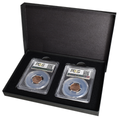 Two Slab Paperboard Certified Coin Gift Box