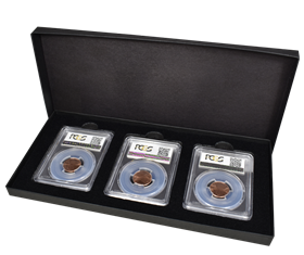 Three Slab Paperboard Certified Coin Gift Box