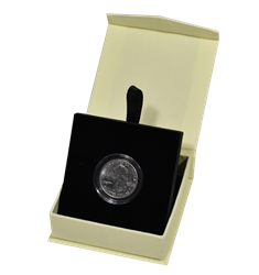 Folding Coin Capsule Box with Magnetic Lid and Stand Insert - Small Capsule