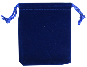 Velour Drawstring Pouch - 2.75x3.25 Royal Blue