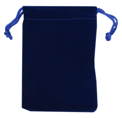 Velour Drawstring Pouch - 5x7.5 Royal Blue