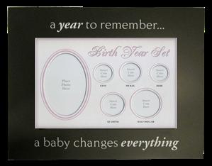 Birth Year Coin Set Frame Baby Girl